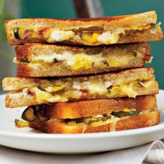 A grilled cheese is great. A grilled ham and cheese is better. This grilled ham, cheese, and pickle recipe is best.