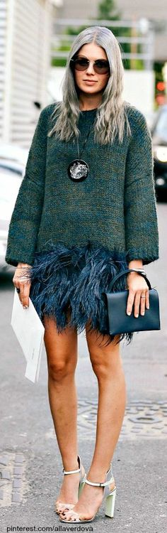 Don't know if I could get away with this, but I love it! #fashion #style #streetstyle