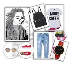 """""""Untitled #224"""" by vassiascissors ❤ liked on Polyvore featuring Authentics, MANGO, Henri Bendel, Topshop, Marc by Marc Jacobs, Vans and Larsson & Jennings"""