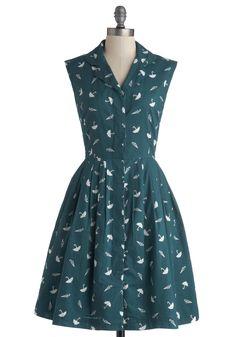 Emily and Fin Bake Shop Browsing Dress in Umbrellas | Mod Retro Vintage Dresses | ModCloth.com