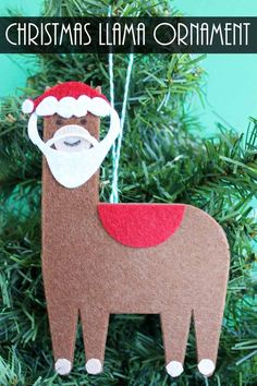 Make this Christmas llama ornament for your tree!