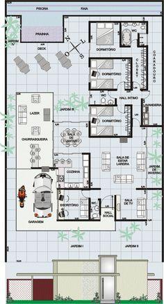Plano de casa moderna de dos pisos con piscina planos de for Febbre da cabina grande orso lago ca