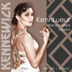 Kennewick Kennlueur, a soft smooth liqueur made from Columbia valley Merlot wine, then we add Honey Rosemary and a little bit of sugar, for a Truly delightful drink.