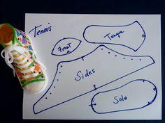 Template Converse Tennis Shoe - Invitation Templates