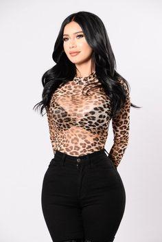 Fashion Nova, Cheetah-licious Bodysuit - Leopard, Size 3X