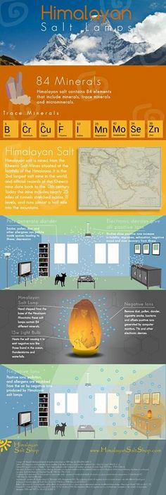 Holistic Health Remedies How Himalayan salt lamps work infographic - Infographic explaining the benefits of Himalayan Salt. Himalayan Salt Benefits, Himalayan Salt Lamp, Health Remedies, Home Remedies, Natural Remedies, Holistic Healing, Natural Healing, Reiki, Health And Beauty