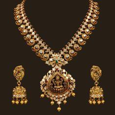 FD Lakshmi Mango Necklace Set (102A2238/103A3292) | Vummidi Bangaru Jewellers