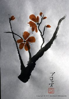 Hope: everyone who sees me either has it or is looking for it. I offer a custom mix of  numerous holistic and natural methods for helping people be who they want to be and live the life they want to live. Image: The plum blossom: a symbol of hope in sumi-é painting by Myriam Jeanne. Visit her sumi-e workshop board:  http://pinterest.com/myriamjeanne/sumi-e-onto-workshop-myriam-jeanne/