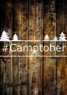 October really is the best month for camping...