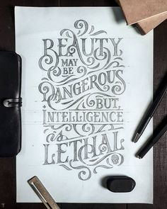 Are you looking for a quick tip for improving your hand lettering layouts? Well, you came to the right place, we guide your step-by-step through the process logo typography 1 EASY Tip That Will Improve Your Lettering Composition Hand Lettering Quotes, Creative Lettering, Typography Quotes, Brush Lettering, Lettering Design, Calligraphy Quotes, Typography Letters, Typography Poster, Hand Lettering Styles