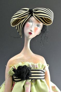 Sweet Painted Lady OOAK art doll by cmoyer on Etsy, $375.00