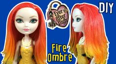 DIY - How to: Fire Ombre Hair for Barbie Doll - Barbie Hair Tutorial - Making Kids Toys - YouTube