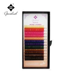 Genie 4pcs/lot Rainbow Color C Curl 10mm 12mm 14mm Eyelash Extension Multi-Colored Individual Eyelash Extensions