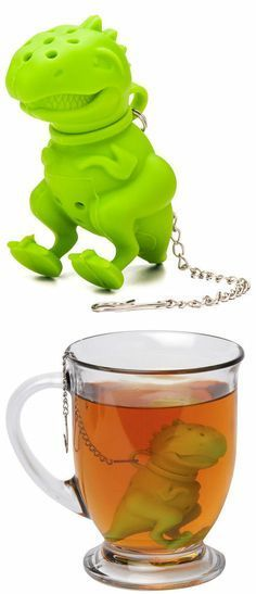 Perhaps the coolest thing ever! Green Tea Rex Tea Infuser.