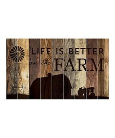 Another great find on #zulily! 'Life Is Better' Wood Wall Sign #zulilyfinds