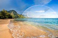 Rainbow in Hawaii - photo by Getty Images, via Huffington Post (2013)
