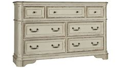 Liberty Furniture-Magnolia Manor-Liberty Furniture Magnolia Manor 7 Drawer Dresser - Jordan's Furniture