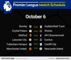 Afc Bournemouth, Match Schedule, Huddersfield Town, Cardiff City, Premier League Matches, Burnley, Watford, Crystal Palace, Tottenham Hotspur