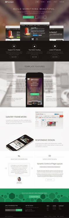 Paradigm is a rich infusion of elegant, transparent visuals with a contemporary design frame, to create a subtle but invigorating site experience. The dynamically changing, transparent to opaque, fixed header, combines design and functionality.