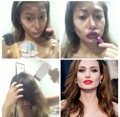 #MakeupTransformation Angelina Jolie