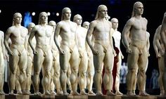 Performers dressed as ancient greek statues/Athens Olympic Opening Ceremony 2004