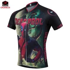 2017 Arrive American Comic Badass Deadpool T-Shirt Tees Men Women Cartoon Characters 3d Cycling jerseys Funny sports jerseys