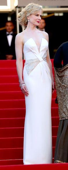 Nicole Kidman.... 05/28/13: Nicole Kidman sparkled in a silk Giorgio Armani column and diamond Harry Winston jewels at the Cannes closing ceremony.