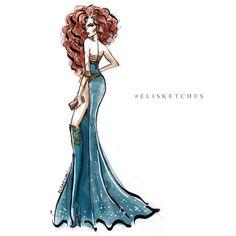 "Disney It-Girls ""Merida"" Estilo Disney, Arte Disney, Disney Fan Art, Disney Princess Fashion, Disney Style, Disney Love, Disney Fashion, Disney High, Disney Disney"