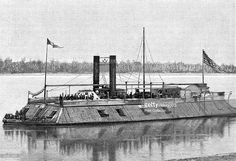 'St Louis', Union gunboat, American Civil War, 1861-1865. The earliest ironclad gunboat designed by American engineer James B Eads (1820-1887) to be employed by the Union side. Although the 'St Louis' was sunk by a torpedo in 1863, Eads' ironclad ships were of considerable military value to the Union.
