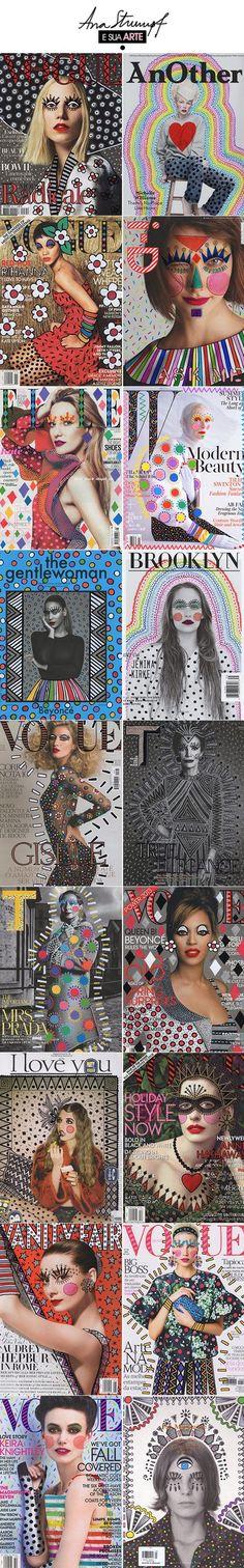 Achados da Bia | Arte | Ana Strumpf | Capas de revistas ilustradas: