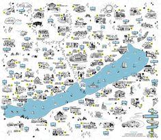 Coffee Places, Kids Rugs, Map, Illustration, Decor, Hungary, Viajes, Cafeterias, Decoration