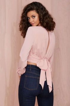 Nasty Gal Salome Crop Top - Pink - Cropped | Tops