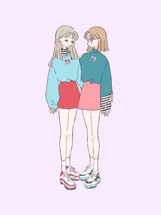 Kawaii Anime Girl, Anime Art Girl, Manga Art, Character Art, Character Design, Cute Art Styles, Korean Art, Cute Cartoon Wallpapers, Cute Illustration
