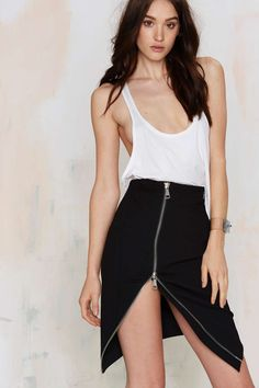 Nasty Gal On the Edge Asymmetrical Skirt | Shop Clothes at Nasty Gal!