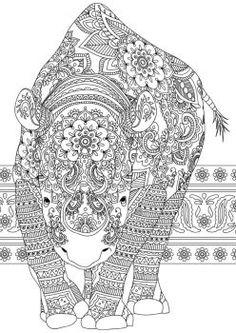 Indian Summer Rhino by handtoeye