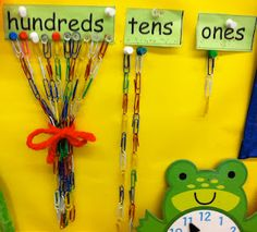 I like this way of keeping track of the number of days of school better than doing bundles of straws.