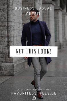 Erfahre welche Teile dazu passen! Business Casual Outfit für Männer. Smartes Outfit für den Herbst mit Anzughose, Rollkragenpullover, Wollmantel und Halbschuhen. Ein schicker Look für die Arbeit. Outfits für Männer mit passenden Teilen bei Favorite Styles. #favoritestyles #mode #fashion #outfit #männer #herren #style #stil #männermode #herrenmode #mensoutfit #mensfashion #ideen #inspiration #business #casual #smart #elegant #rollkragen #wollmantel #arbeit