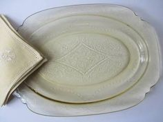 depression clear glass plates - Google Search