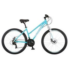This women's Schwinn Dual Sport Hybrid Bike offers the perfect combination of road bike speed, cruiser comfort and mountain bike versatility, making it a true multi-sport hybrid that can handle all of your cycling needs. Mountain Bicycle, Mountain Biking, Sports Frames, Road Bike Women, Dual Sport, Bicycle Maintenance, Cool Bike Accessories, Bike Reviews, Road Bikes