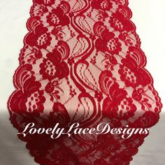 Hey, I found this really awesome Etsy listing at https://www.etsy.com/listing/248794195/red-lace-table-runner-red-lace3ft-10ft