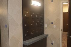 The 5 new buildings all have community bathrooms. Each bathroom has lockers where you can store your toiletries so you don't have to carry them down the hall.