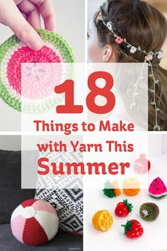 All this sunshine has got us thinking about summer, and all the lovely things we can make with our stash of yarn! Check out some of these colourful projects....