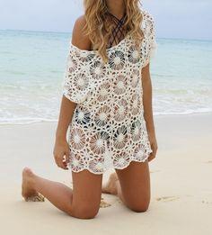 Starburst Crochet Top Crochet Beach Dress, Crochet Tops, Crochet Ideas, Cover Up, Skirts, Projects, Dresses, Style, Fashion