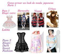 """""""Moda japonesa 1"""" by amberzxxx on Polyvore featuring moda, Kokon To Zai y Japan L.A."""