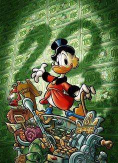 Secretary of Treasury (For now. Disney Pop Art, Disney Duck, Arte Disney, Walt Disney Characters, Cartoon Characters, Graphic Wallpaper, Cartoon Wallpaper, Disney Italia, Dagobert Duck