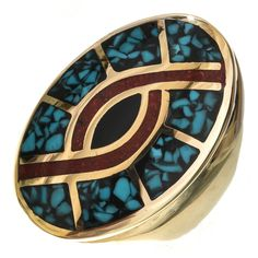 """Blue Copper Turquoise Gemstone Handmade Heart Style Vintage Pendant 2"""" Jewelry & Watches"""