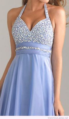 Light blue prom dress, love the top design
