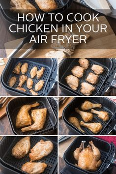 How to Cook Chicken in Your Air FryerYou can find How to cook chicken in air fryer and more on our website.How to Cook Chicken in Your Air Fryer Air Fryer Recipes Low Carb, Air Fryer Recipes Breakfast, Air Fryer Dinner Recipes, Air Fryer Recipes Chicken Wings, Air Fryer Recipes Potatoes, Air Fryer Chicken Thighs, Breakfast Sandwiches, Breakfast Dishes, Recipes Dinner