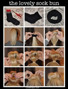 The Lovely Sock Bun Pictures, Photos, and Images for Facebook, Tumblr, Pinterest, and Twitter