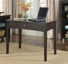 The Shaker Cottage Writing Desk from Alaterre is pratical for a study area or simple home office computer station. The desk features a drawer that can be used to organize your office supplies or the front may be flipped down to create a keyboard tray.